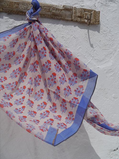 Floral Block Print Sarong