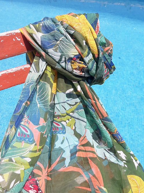 Tropical print Sarong