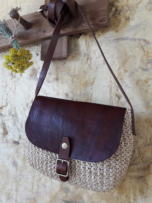 Raffia Shoulder Bag Natural
