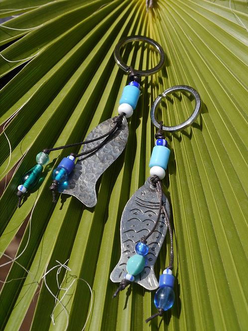 Fish Keyring Berber Silver