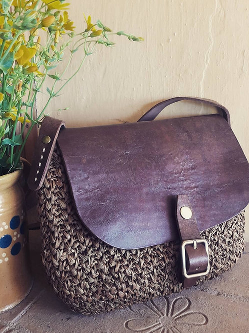 Raffia Shoulder Bag Tobacco