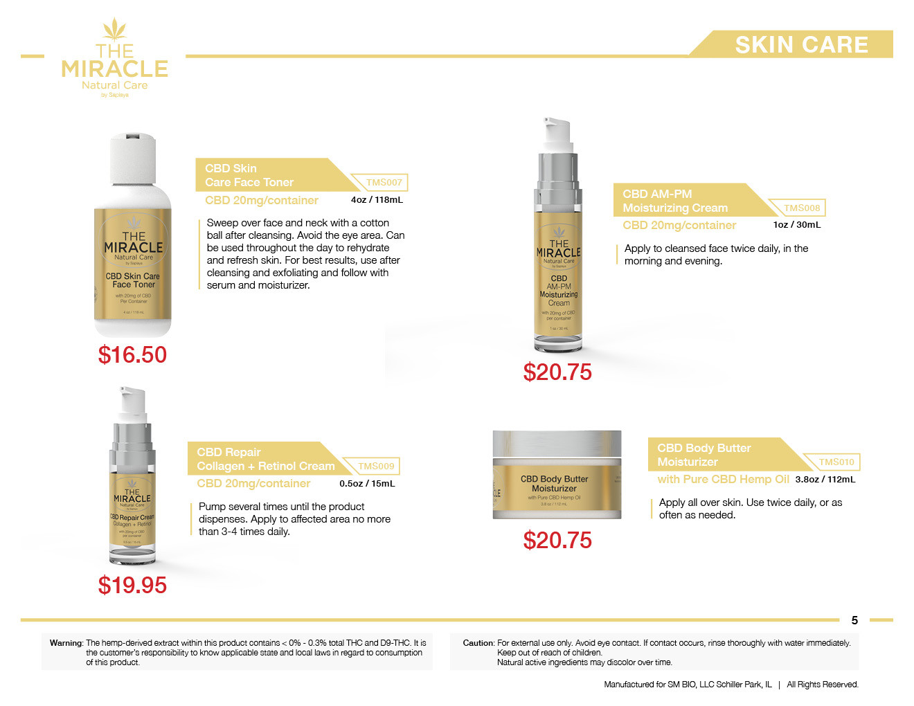 The Miracle Natural Care by Saplaya - Catalog