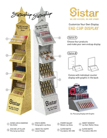 Sistar - Customizable Gold & Silver End Cap Display Instructive Promotional Poster