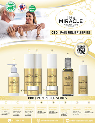 The Miracle Natural Care - CBD Pain Relief Series Flyer