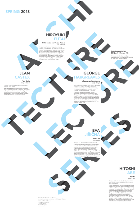 Spring 2018 Architecture Lecture Series Poster