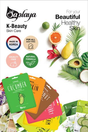 Saplaya - K-Beauty Skin Care Face Mask Promotional Poster