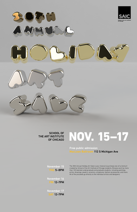 30th Annual Holiday Art Sale Event Poster