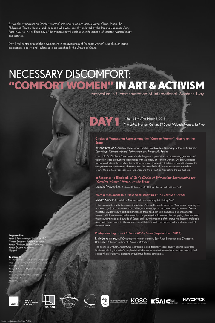 "Necessary Discomfort: ""Comfort Women"" in Art & Activism Day 1 Banner"