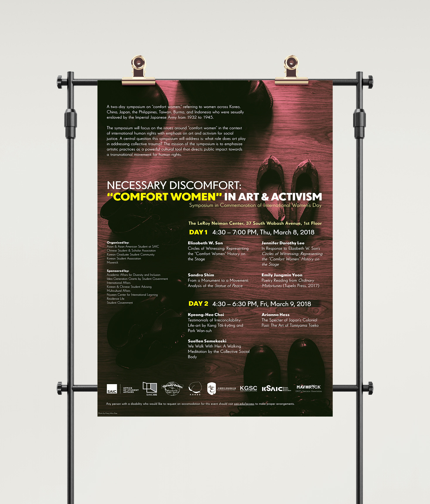 "Necessary Discomfort: ""Comfort Women"" in Art & Activism Symposium Event Poster"