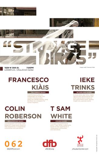 """Strange Birds"" Artist Group Exhibition Poster"