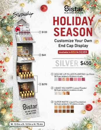 Sistar - Holiday Season Silver End Cap Display Infographic Promotional Poster