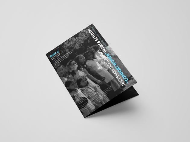 """Necessary Discomfort: """"Comfort Women"""" in Art & Activism Day 2 Brochure"""