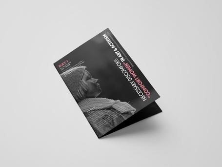 """Necessary Discomfort: """"Comfort Women"""" in Art & Activism Day 1 Brochure"""