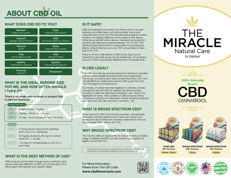 The Miracle Natural Care by Saplaya - Promotional Brochure 2 (Exterior & Front Cover)