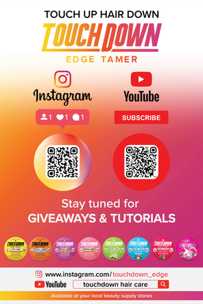 Touchdown - Instagram & Youtube QR Code Promotional Poster
