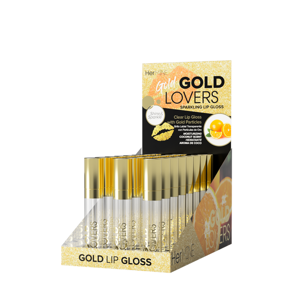 Hermine - Gold Lovers Gold Lip Gloss