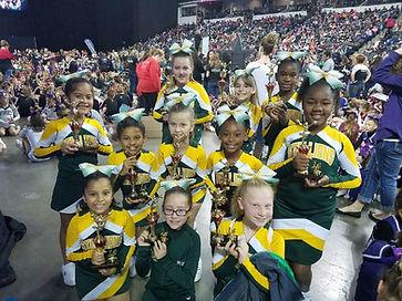 EP Stallions Cheer Image - posing with awards