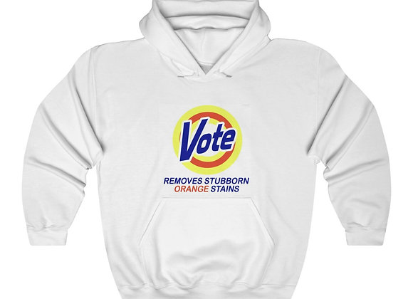 """Vote (Removes Stubborn Orange Stains)"" Hooded Sweatshirt"