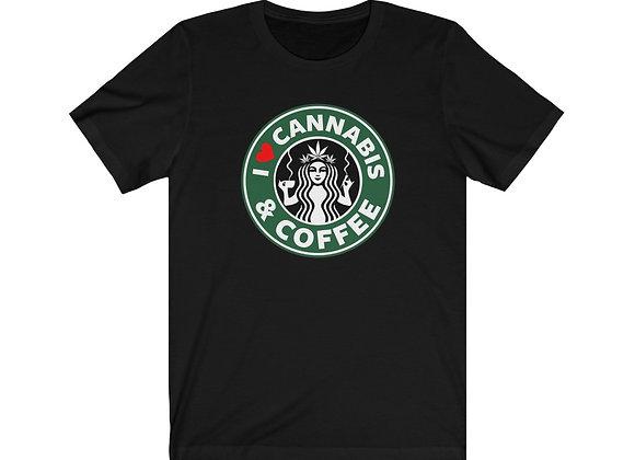 I Love Cannabis & Coffee Tee