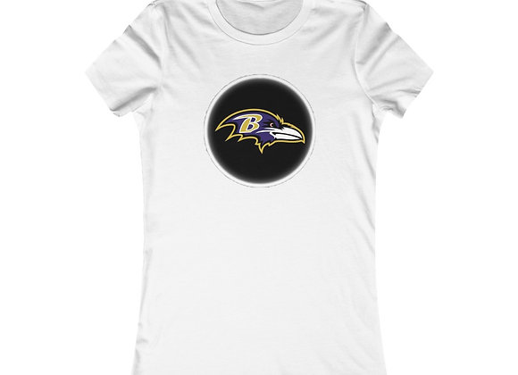 Ravens Button Short Sleeve Tee