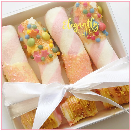 White Chocolate Dipped Mallows