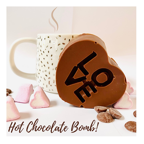 Hot Chocolate Heart Bomb