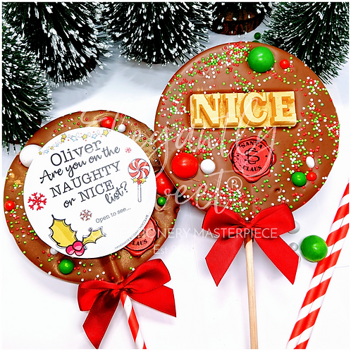 Extra Large Naughty or Nice Lollipop