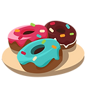 —Pngtree—red_donut_blue_donut_chocol