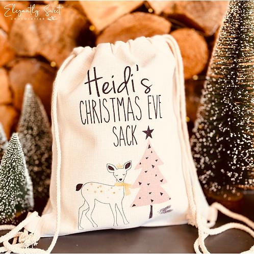 Unfilled Christmas Eve Sack - Reindeer