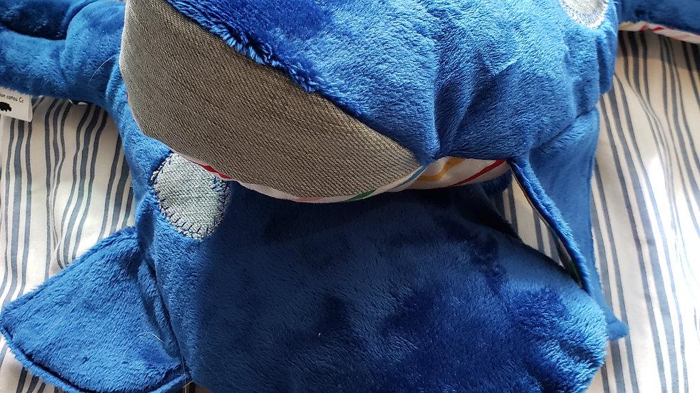 Peluche Baleine bleu