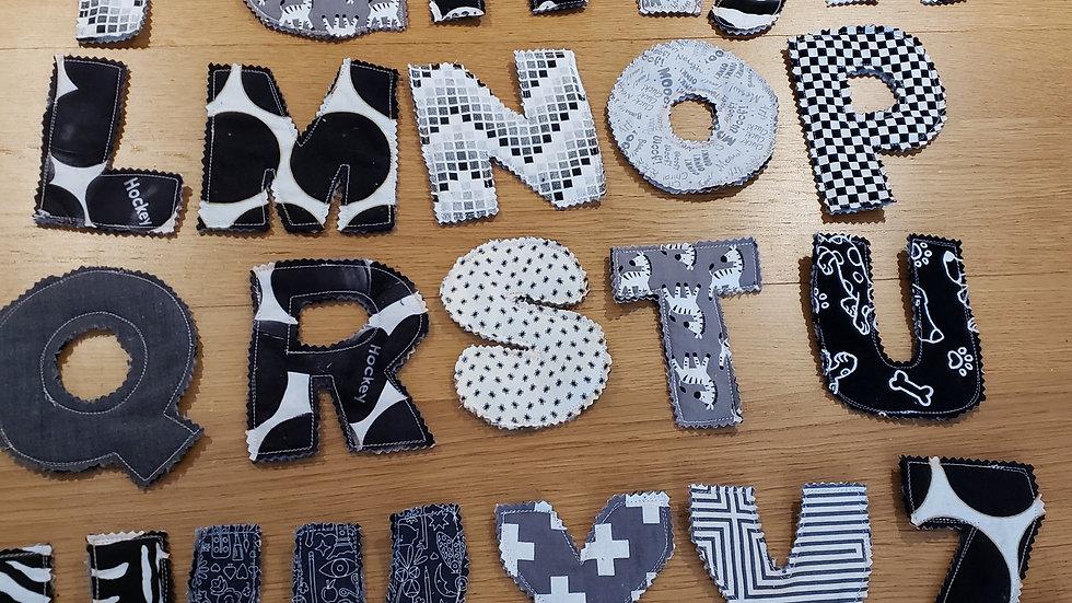 Alphabet en tissus