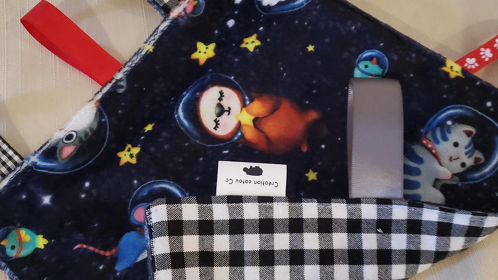 Doudou étiquettes Astronautes