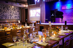 Tablescape with stage