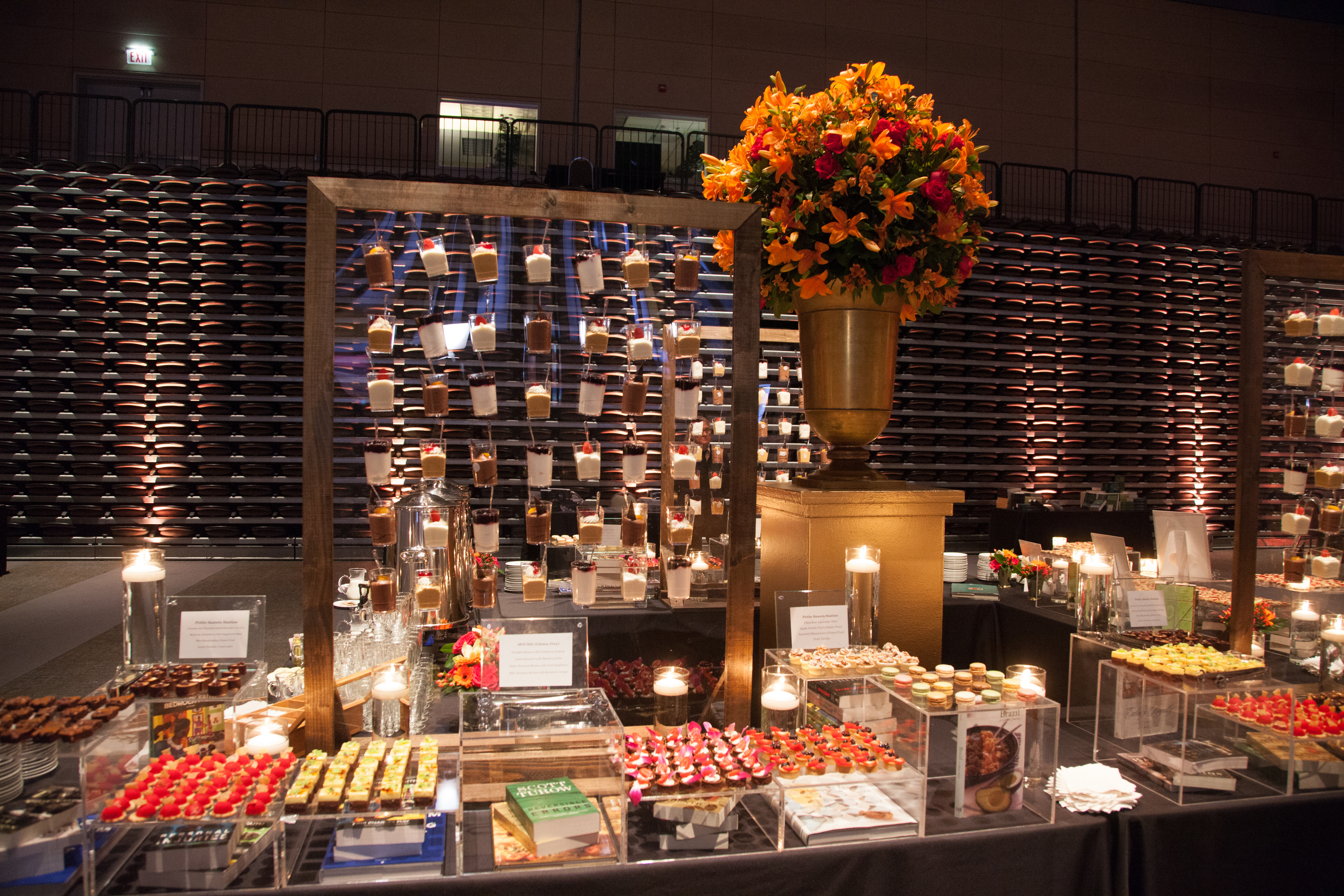 A wall of mouse, created especially for the event, at the dessert station - Photo by Johnny Knight