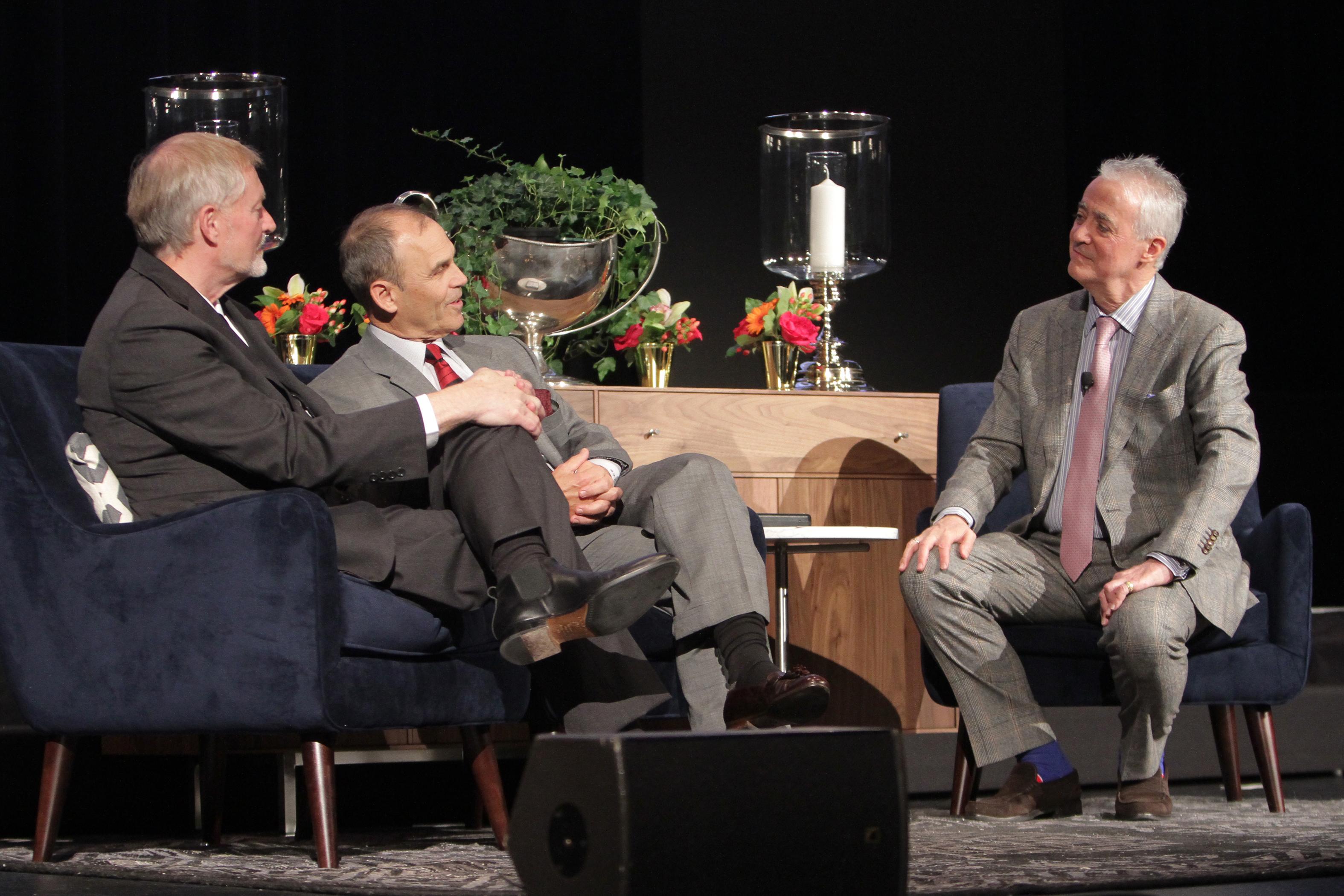 Larson, Turow, Simon in Conversation - Photo by Dan Rest