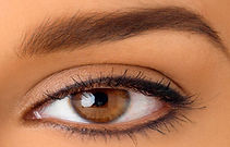 Eye liner upper and lower cosmetic tattoo