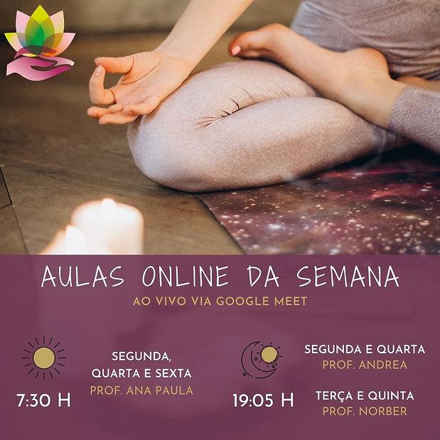 Horários das aulas de Yoga Online ao Vivo