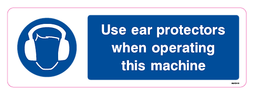 Use ear protectors when using this machine
