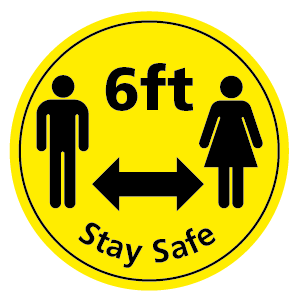 6ft Stay Safe wall sticker