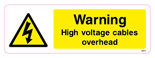 Danger High voltage cables overhead