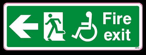 Fire exit Arrow left Disabled