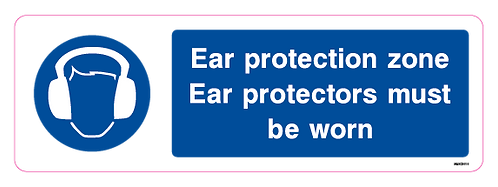 Ear protection zone - Ear protectors must be worn