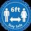 Thumbnail: 6ft Stay Safe floor sticker