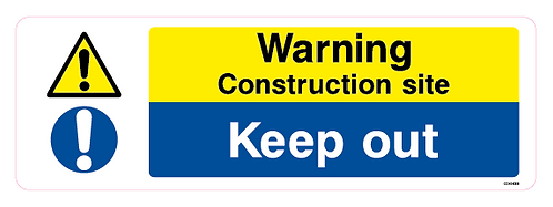 Warning Construction site