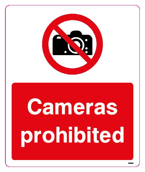 Cameras prohibted