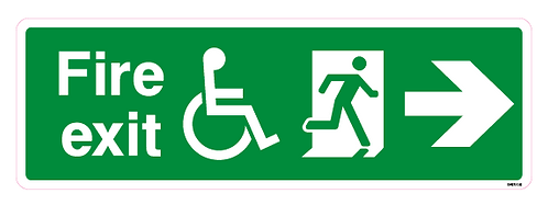 Fire exit Arrow right Disabled