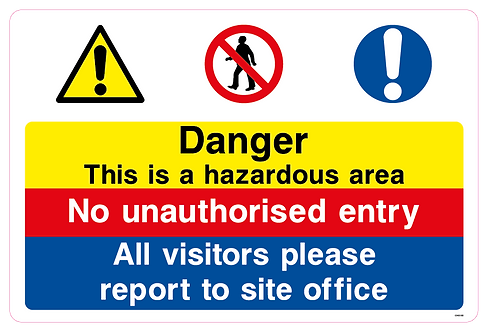 Danger This is a hazardous area