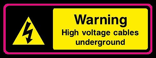 Danger High voltage cables underground