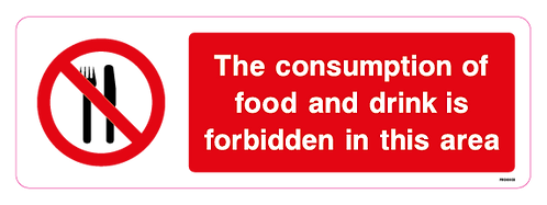 The consumption of food and drink is forbidden in this area