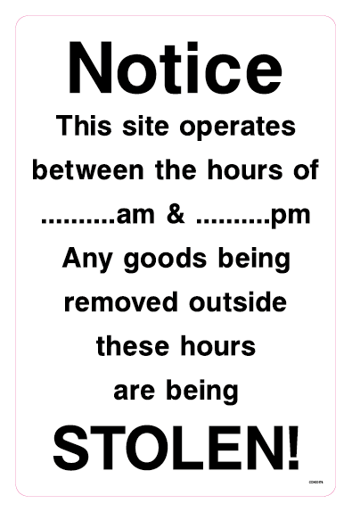 Notice This site operates between the hours of